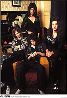 Queen Kensington London 1974 Photo Band Album Rock Music Vintage Style Cool Wall Decor Art Print Poster 23.5x33