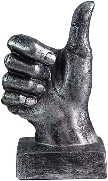Creative Statues And Abstract Hand Sculptures For Home Office Decor Finger Signs Marks Figurines Silver Thumbs Up