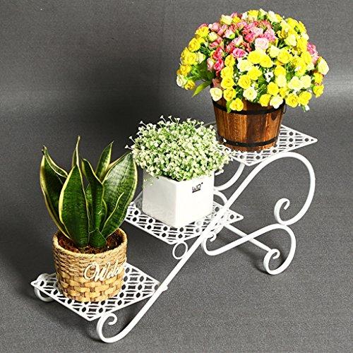 MLHJ Stand de Fleurs- Cadre de Fleurs en Fer forgé Multicouche Balcon créatif Fleur Vigne Salon sur Pied Stand de Fleurs Multifonction (Couleur : Blanc)