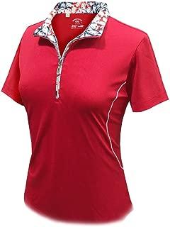 Monterey Club Ladies Dry Swing Daisy Stamp Contrast Shirt #2359