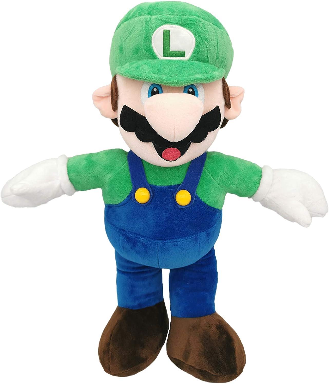 Japan Maker New 16.5 inch Luiqi Super Mario Cheap sale Soft Plush Doll Stuffed