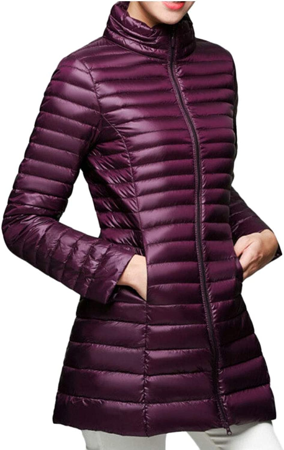 UNINUKOO Unko Women Puffer Lightweight Down Outerwear Outdoor Quilted Down Jackets