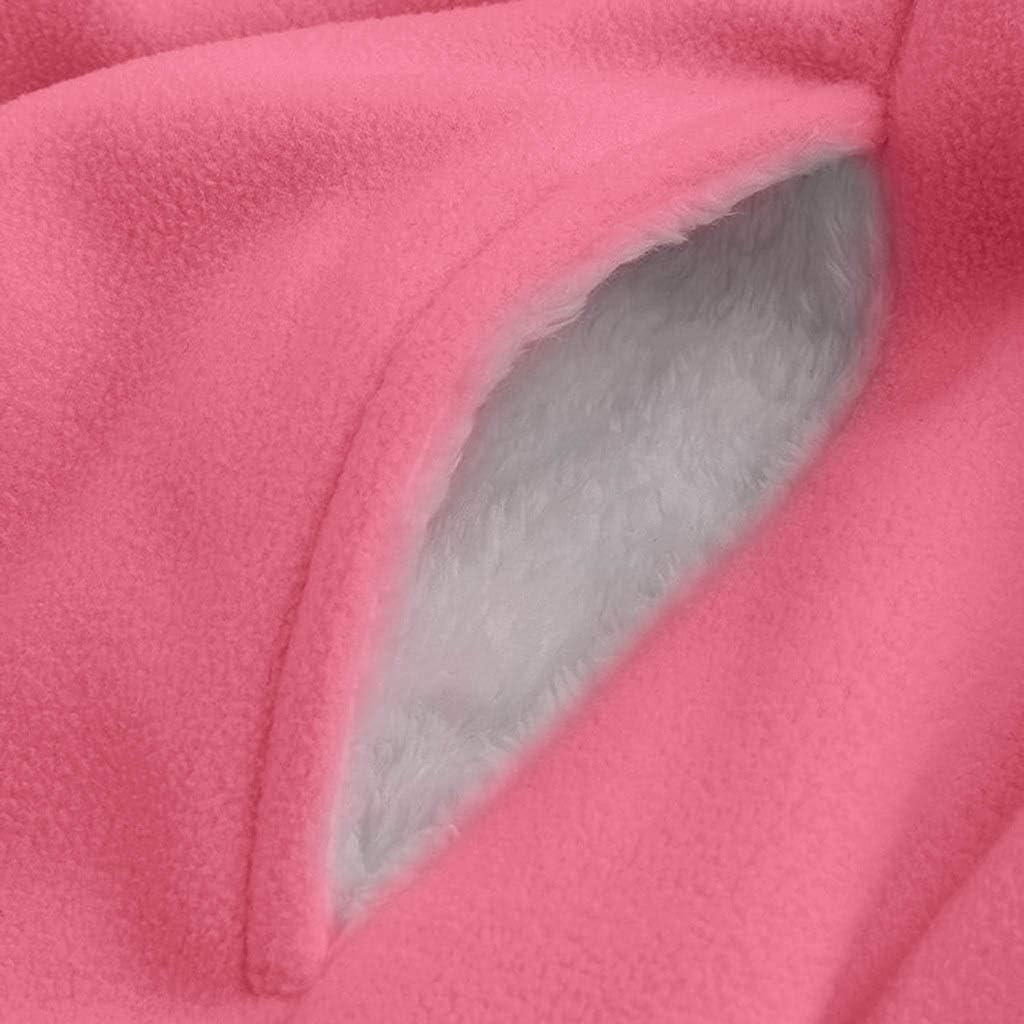 SALUCIA Damen Winterjacke Flauschige Teddyjacke Reissverschluss Langarm Kapuzenjacke Oversize Warme Winter Jacke Parka Lange Mantel Übergangsjacke mit Gefüttert Pink