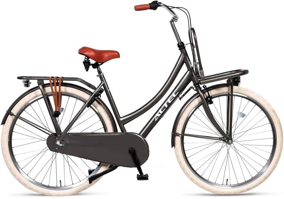 Hoopfietsen 28 Zoll Hollandrad Damen Altec Dutch 3 Gänge 53cm Rahmenhöhe Braun 53 cm Rahmengröße