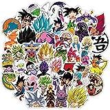 50 Unids / Set Nuevas Pegatinas De Dragon Ball De Anime De Dibujos Animados Japoneses, Maleta Impermeable, Monopatín De Guitarra, Pegatinas De Graffiti Para Niños