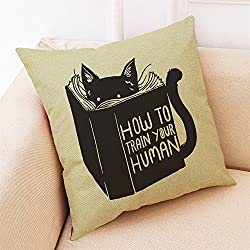 Pillow Cover Accessories Onsales, Home Decor Cushion Cover Cat Style Throw Pillowcase Pillow Covers for Car Sofa, Color D, Kitchen Bathroom Bar 4th of July Decorations Gifts Clearances