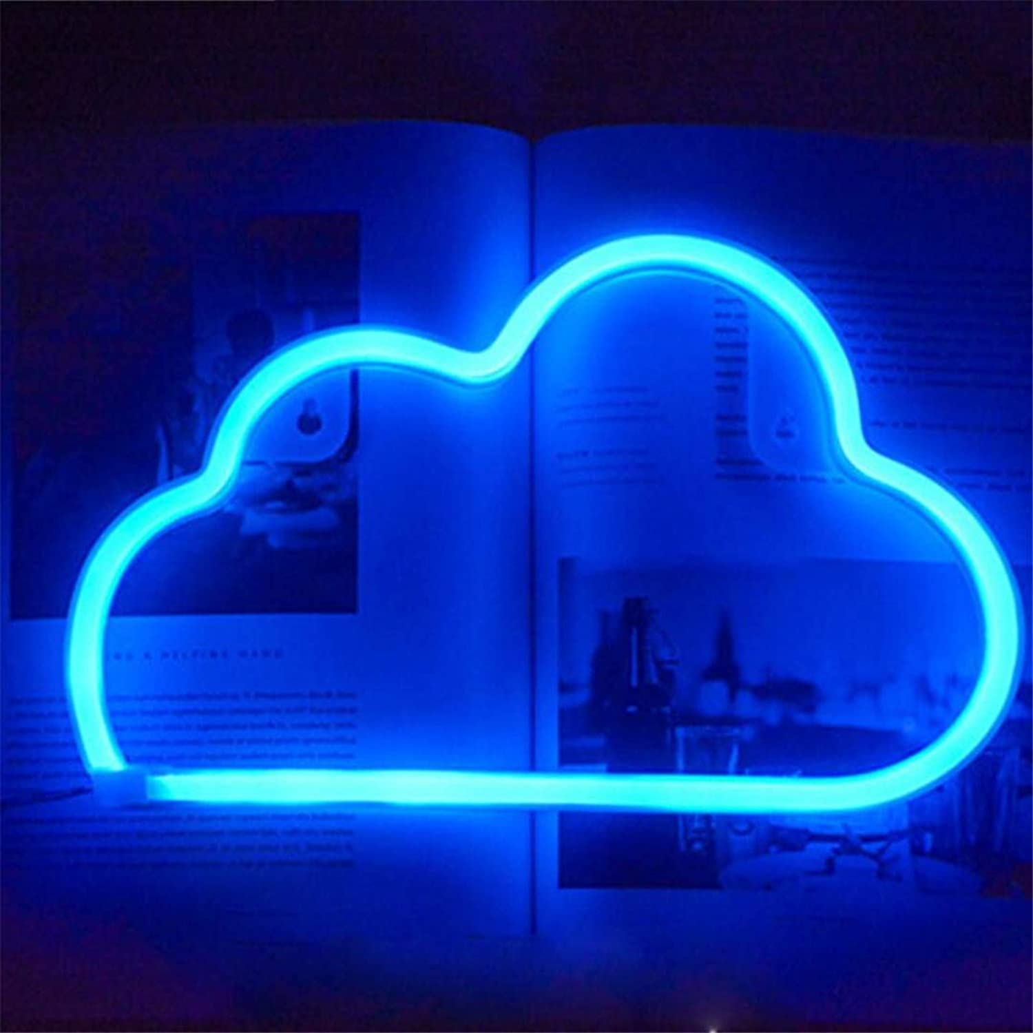QiXian Ceiling Light Ceiling Lamps Night Lamps ins Stars Neon Clouds Han Mai Girl Heart Gift Girls Room Decoration Letter Lights Spring Festival Layout