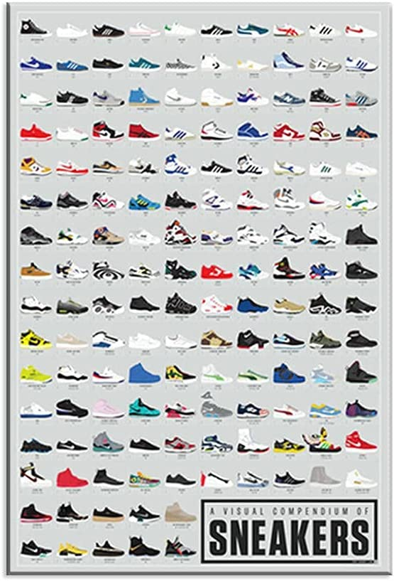 KUTTNU Posters and Prints Easy-to-use Visual Comenium National products Fashion Sneakers Po of