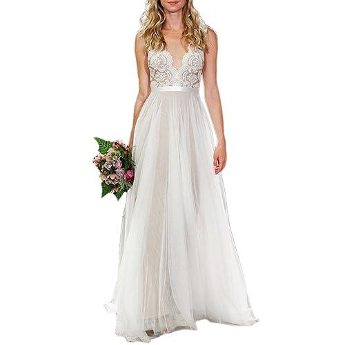 A Line Wedding Dresses Amazon Com
