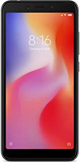 Xiaomi Redmi 6-64GB + 4GB RAM, Dual Camera, Dual SIM GSM Factory Unlocked Smartphone - International Global 4G LTE Version - No Warranty (Black)