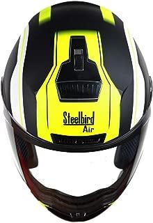 Steelbird SBA-1 Metal/Matt Black/Fluo Yellow/Plain Visor 600mm