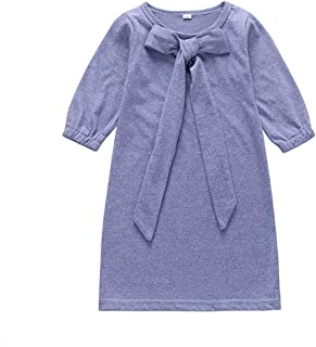 Mornyray Baby Kids Autumn Casual Dress Long Sleeve Cotton Outfit Toddler Girls Casual Playwear