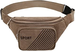 Multi-Functional Canvas Pockets Multi-Layer Cashier Bag Sports Chest Bag