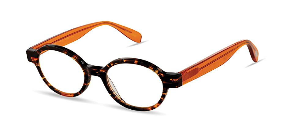 Bartlett Avenue - Round Fashion Reading Glasses for Men and Women - Bengal Tiger Orange