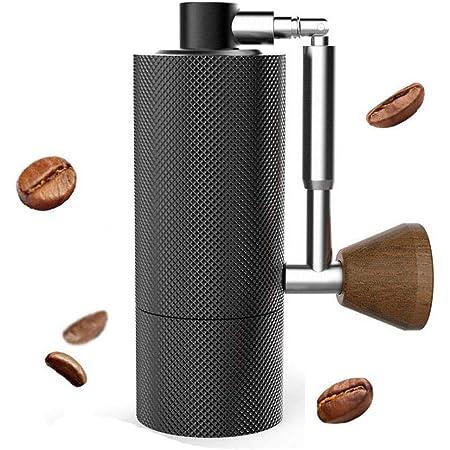 タイムモア TIMEMORE NANO 手挽きコーヒーミル ステンレス臼 全金属製 コーヒーグラインダー 手動式 ミニ型 粗さ調整可能 折り畳み式 清掃しやすい coffee grinder ダイヤモンド 2色 (ブラック)