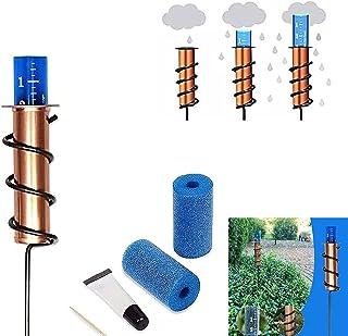 HYPY Copper Rain Gauge Outdoor, Accurate Floating Rain Gauge for Lawn, Rain Gages Outdoors with Stake, with Foam Repair Ki...