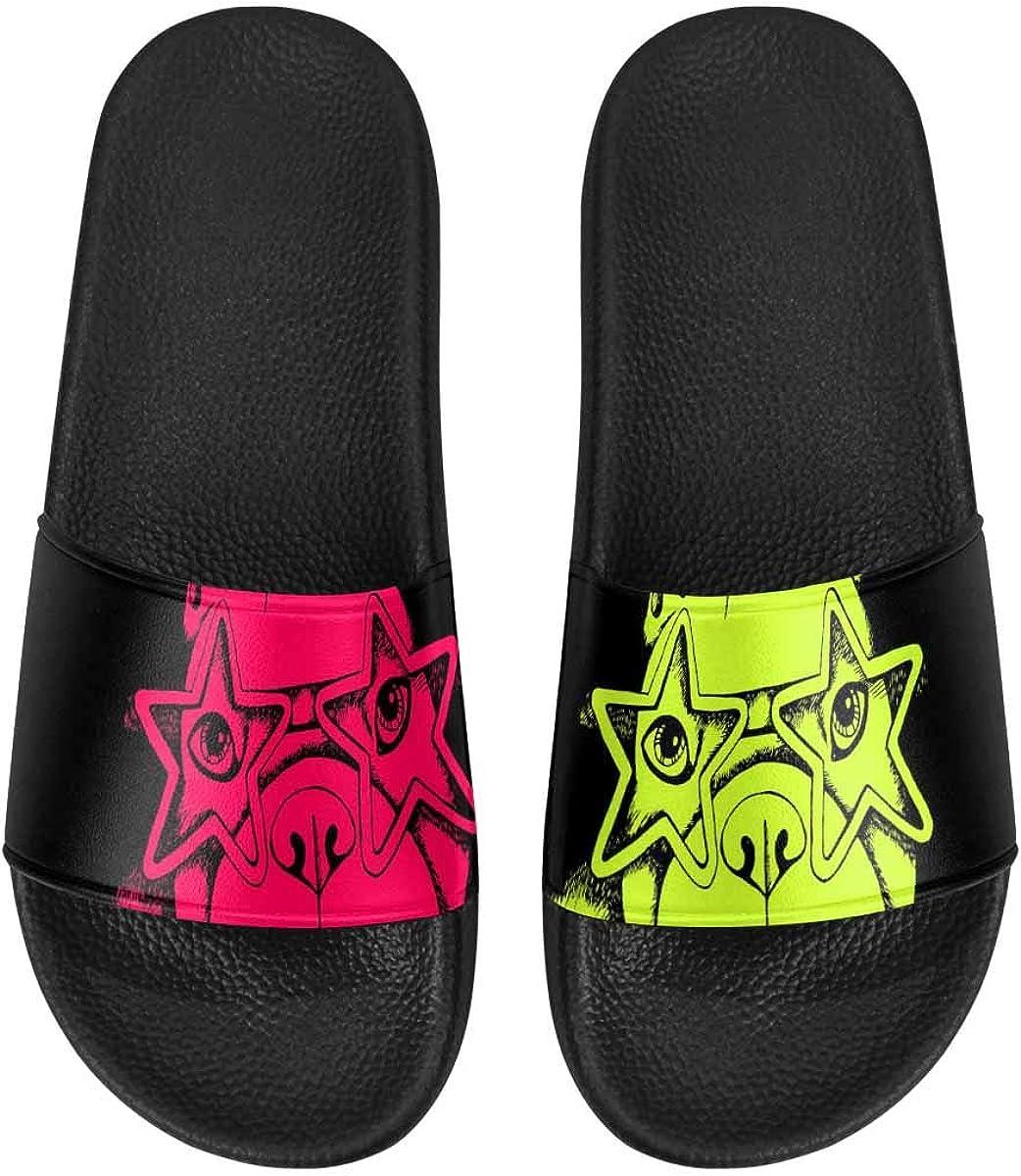 InterestPrint Women's Lightweight Slipper Sandals for Shower Colorful Bouquet Flowers