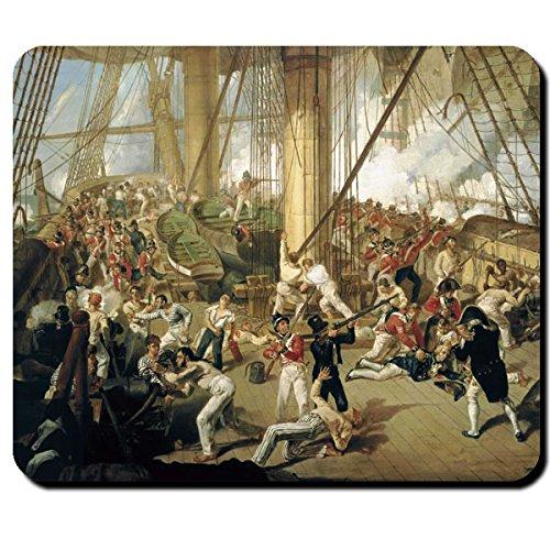 Fall of Nelson Lord Tod Gemälde Seeschlacht Krieg England - Mauspad #10460 M