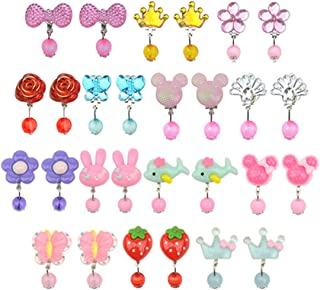 Baby Kids Little Girl Play Clip-on Earrings,Pretend Play Dress up Accessories Toy Jewelry Clip-on Earrings