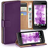 MoEx Premium Book-Hülle Handytasche passend für HTC Desire 626G | Handyhülle mit Kartenfach & Ständer - 360 Grad Schutz Handy Tasche, Lila