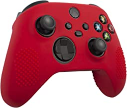 Insten Controller Grip Case Compatible with Xbox Series X/S, Protective Silicone Cover, Anti-Slip, Red
