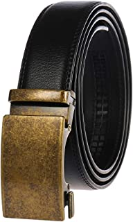 Filgate Men's Leather Ratchet Dress Belt - Genuine Leather Belt for Men - with Automatic Buckle,Elegant Gift Box