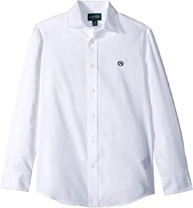 ad1fab55 Lacoste Kids Long Sleeve Classic Oxford Shirt (Little Kids/Big Kids ...