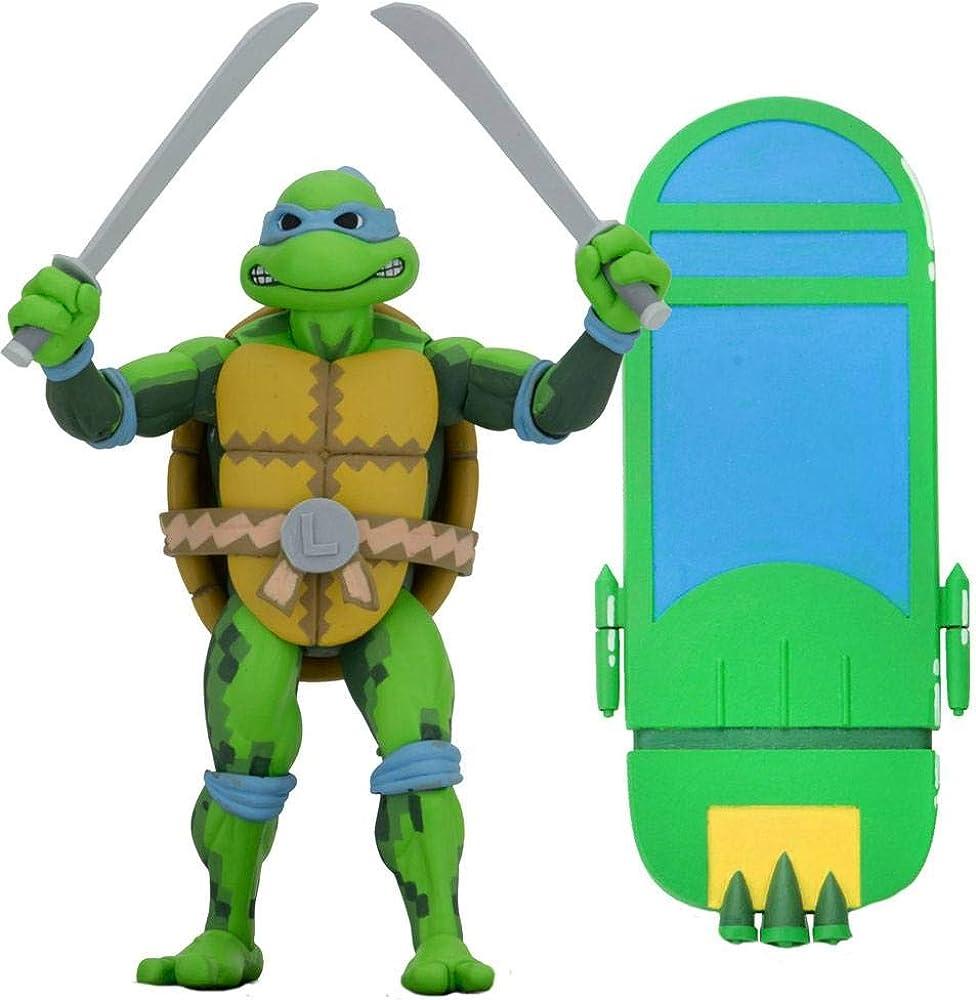 Neca teenage mutant ninja turtles - statuetta di  leonardo, 18 cm di altezza 0634482541067