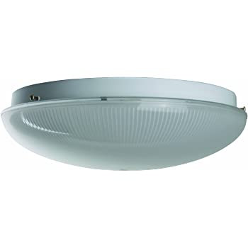 Sunlite AM32SFR 12-Inch Fluorescent Circline Ceiling Fixture White Finish with Shallow Frost Ribbed Plastic