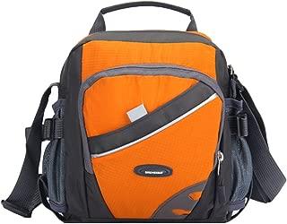Docooler New Unisex Nylon Crossbody Bag Waterproof Contrast Color Zipper Multi-Pockets Casual Sport Outdoor Small Shoulder Bags Handbag