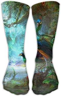 Luxury Calcetines de Deporte Peacock Women & Men Socks Knee High Long Soccer Sport Tube Stockings Length 30cm