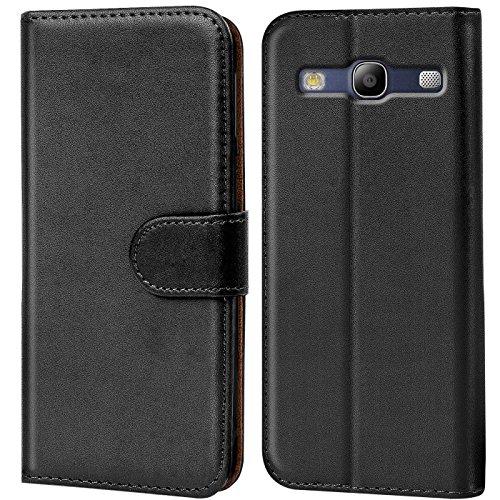 Conie Handyhülle für Samsung Galaxy S3 / S3 Neo Hülle, Premium PU Leder Flip Hülle Booklet Cover Weiches Innenfutter für Galaxy S3 / S3 Neo Tasche, Schwarz