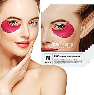 Avajar Perfect V Lifting Premium Eye Mask 5set - Under Eye Bags Treatment Patches Mask for Puffy Eyes | Undereye Gel Pads Dark Circle Eyes Treatment | Collagen Hydrogel Anti Aging Wrinkle Eye Patch