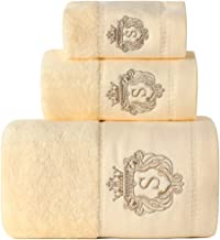 Sunshinejing Premium 100% Pure Cotton Bath Towel Set; 1 Bath Towels,1 Hand Towel & 1 Washcloth,Luxury Bathroom Super Soft ...