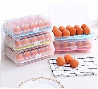 Froiny 15 Koelkast Eieren Container met Deksel, Draagbare Stapelbare Grote Capaciteit Ei Houder Clear Plastic Decoratieve ...