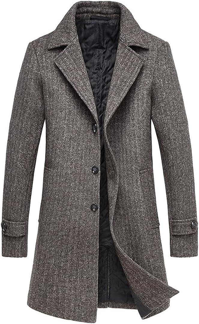 Wool Blend Coats Men Wool Coat Long Section Wool Blend Overcoat Male
