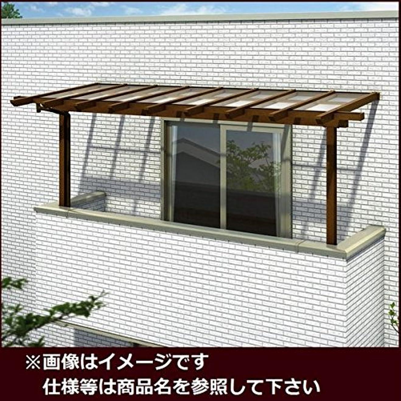溶かす小石デジタルYKK ap サザンテラス パーゴラタイプ 2階用 関東間 1500N/m2 3間×7尺 (2連結) ポリカ屋根 キャラメルチーク/アースブルー
