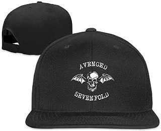 Adjustable Flat Bill Punk Hat Avenged Sevenfold Snapback Hat Cotton Baseball Cap