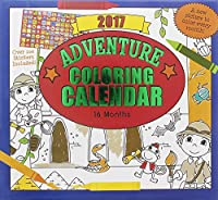 ペーパークラフト2017 Kids Childrens 16 Month Calendar with Over 100ステッカー