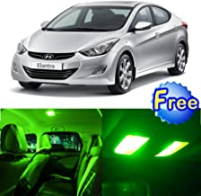 SCITOO LED Interior Lights 10pcs Green Package Kit Accessories Replacement for 2011-2016 Hyundai Elantra