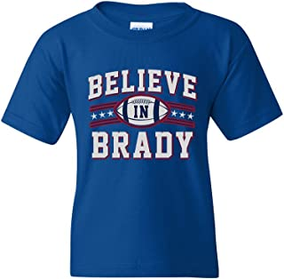 Believe in Brady Ball Football Sports DT Youth Kids T-Shirt Tee