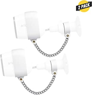Wasserstein Anti-Theft Security Chain Compatible with Arlo Pro and Arlo Pro 2 - Extra Security for Your Arlo Camera (2-Pack, White)