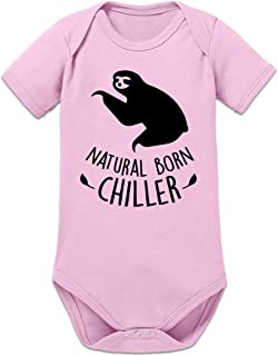 Shirtcity Natural Born Chiller Sloth Baby Strampler by