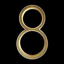 LHongBin-Deur huisnummer, Satijn Messing Deur Home Adres Nummers, 125mm Gouden Drijvende Huisnummer, Digitale Openlucht Te...