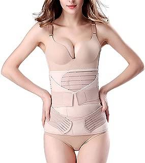 Fashiol Postpartum Support Recovery Belly Wrap Waist/Pelvis Belt Body Shaper Postnatal Shape wear Free Size (M to XXL) Beige