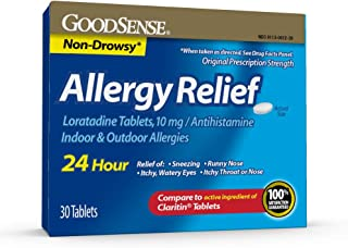 GoodSense Allergy Relief Loratadine Tablets, 10 mg, 30 Count Allergy Pills for Allergy Relief