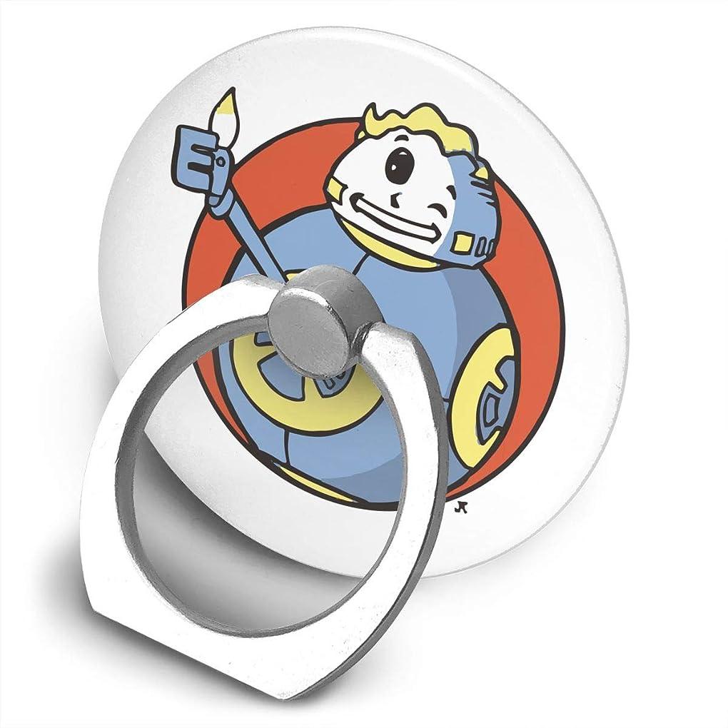 器用黄ばむ置き場ゲーム フォールアウト プリント スマホリング 薄型 ネコ型 スマホ りんぐ ホルダー 丸型 強吸着力 落下防止 携帯リング 360° 角度調整 IPhone/Android各種他対応