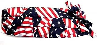 American Flag Tuxedo Cummerbund and Bow Tie Set