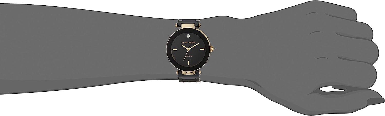 Anne Klein Womens Genuine Diamond Dial Ceramic Bracelet Watch