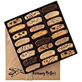Granny Bella's Gourmet Fathers Day Homemade 24 Biscotti Gift Baskets | Prime Italian Cookies | Corporate Gifting Delivered Tomorrow | Holiday Sympathy Basket | Birthday Gifts Delivery for Men & Women